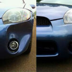 Before and After shot of bumper repair